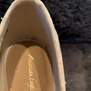 American Eagle Outfitters Shoes - American Eagle ivory lace high wedges